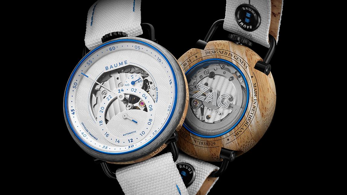 La maison d'horlogerie Baume et l'enseigne de skis haut de gamme Zag signent une nouvelle montre